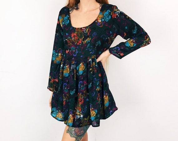 Chiffon Lightweight Babydoll Dress