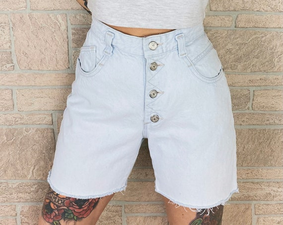 LEE Jeans Light Wash Button Fly Shorts / Size 27 28