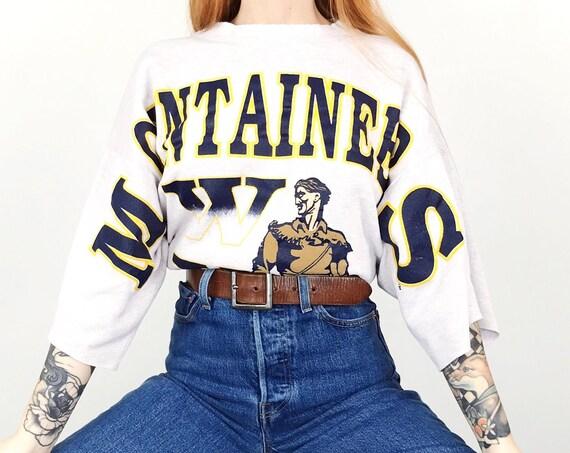 Vintage WVU Mountaineers Pullover Sweatshirt