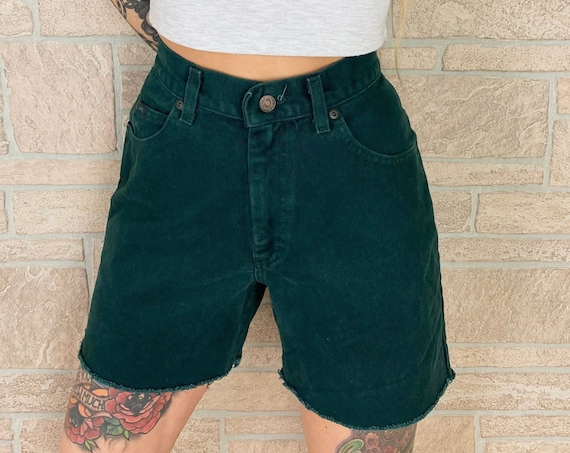 LEE Jeans Forest Green Cut Off Shorts / Size 29