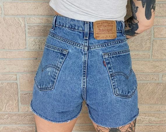 Levi's 560 Cut Off Jean Shorts / Size 34