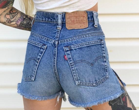 70's Levi's Cut Off Shorts / Size 27 28