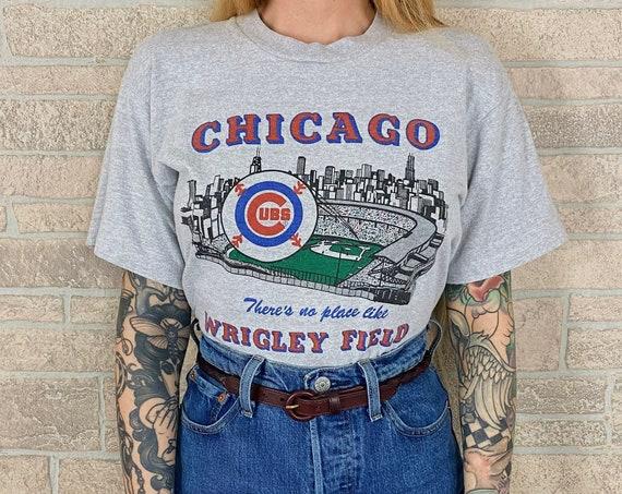 1988 80's Soft Wrigley Field Chicago Cubs T-Shirt