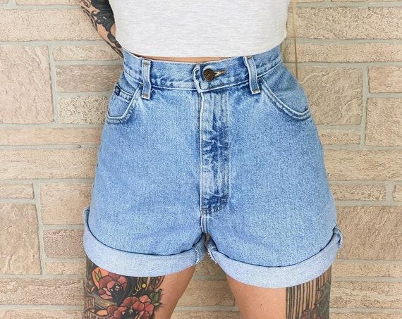 LEE Light Wash High Rise Jean Shorts / Size 27 28