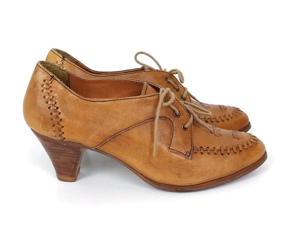 60's Heeled Oxford Moccasin Shoe