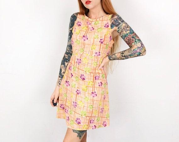 90's Pastel Sherbet Floral Sleeveless Mini Dress