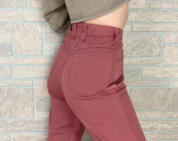 90's Fiorlini Rose Pink Ultra High Rise Jeans / Size 27 28
