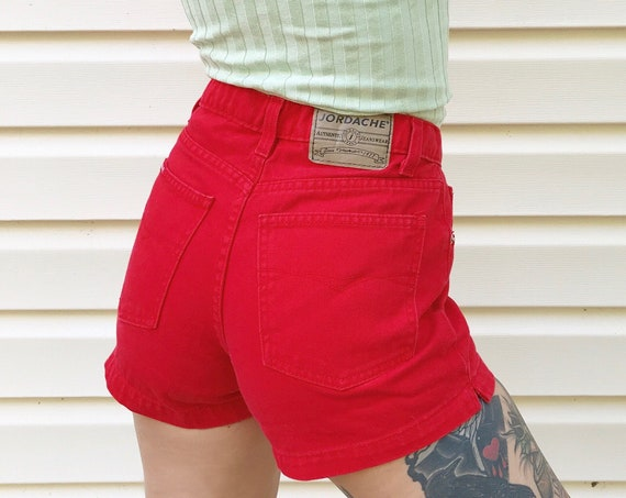Jordache Red Denim Shorts / Size 25 26