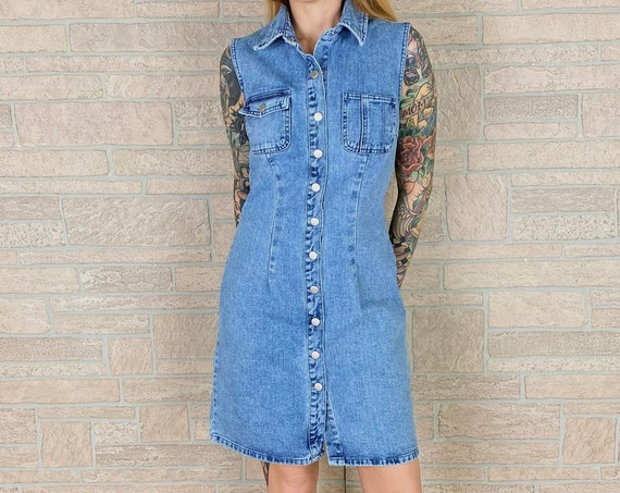 90's Newport News Sleeveless Denim Dress