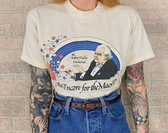 RARE 80's Arthur Fiedler Memorial An Encore for the Maestro T-Shirt