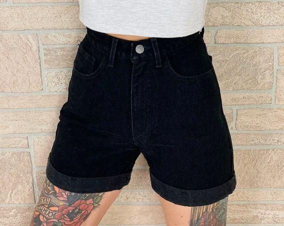 Guess Jeans Black High Rise Cuff Shorts / Size 23 24