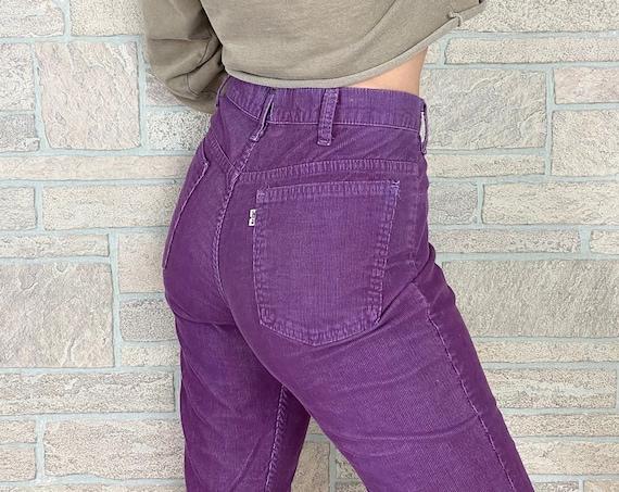 70's Levi's 646 Corduroy Bell Bottom Pants / Size 30 31
