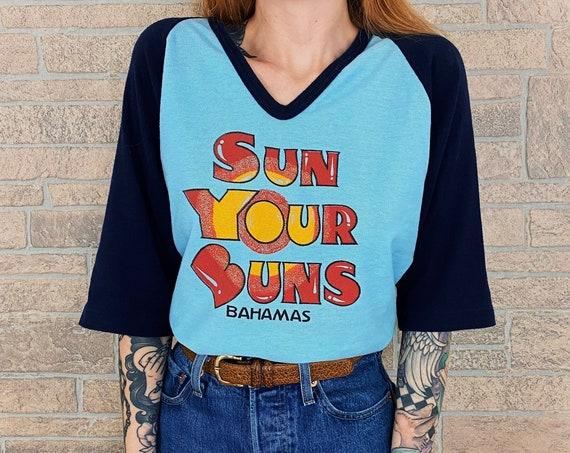 70's Sun Your Buns Bahamas Raglan Tee T-Shirt