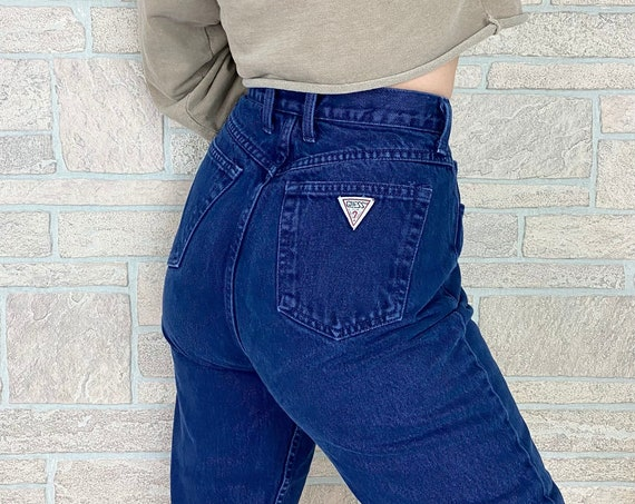 Guess Navy Blue High Waisted Jeans / Size 27 28