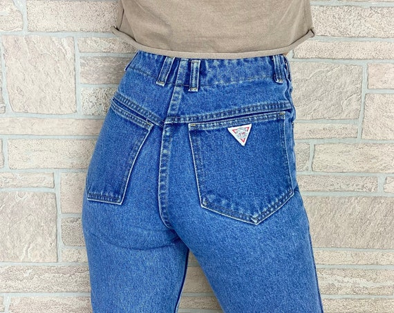 Button Fly High Rise 80's Jeans / Size 24
