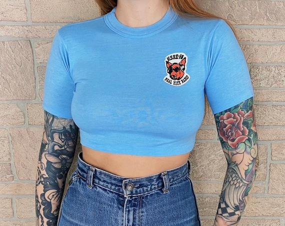 Vintage KSHE 95 Real Rock Radio Station Crop Top Shirt