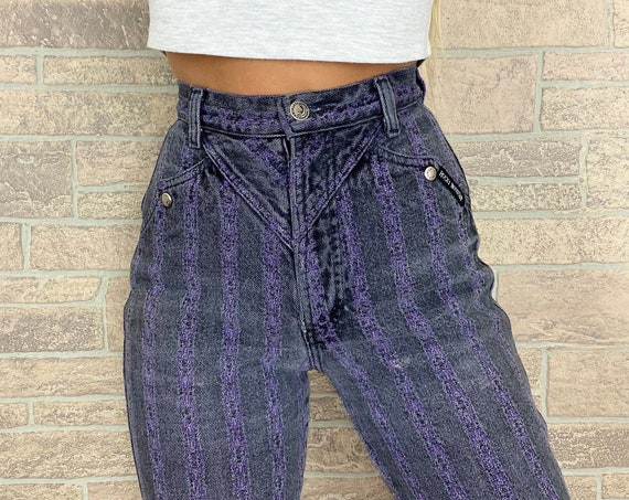 Rocky Mountain Pinstriped Western Jeans / Size 23 24