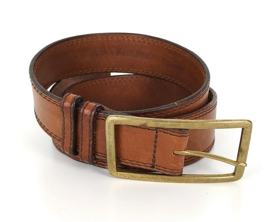 Leather and Solid Brass Belt