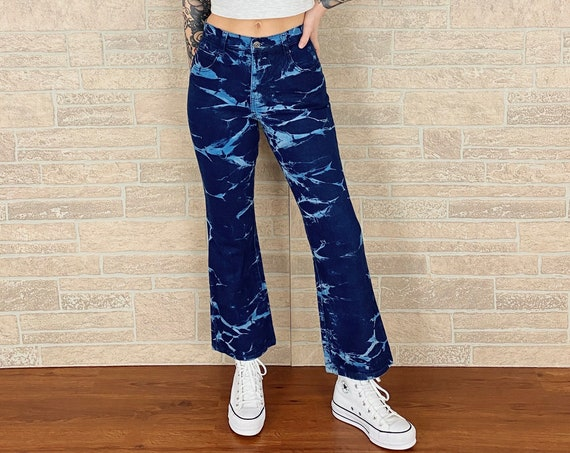 Zana Di Tie Dye Hip Hugger Jeans / Size 23