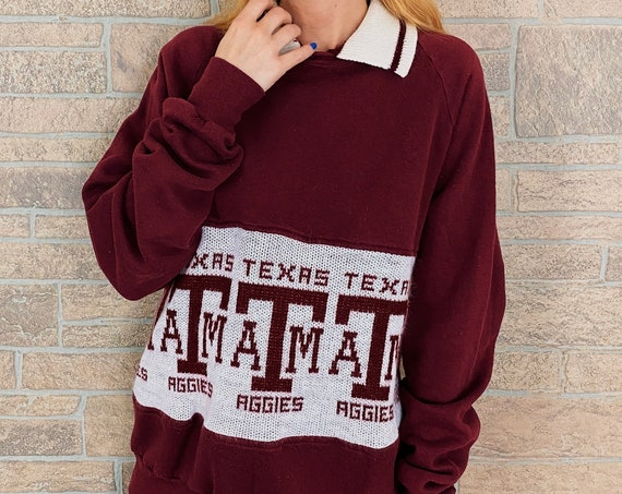 70's Texas A&M University Aggies Pullover Sweatshirt