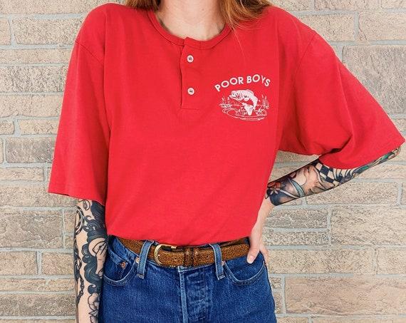 80's Poor Boys Henley Tee T-Shirt