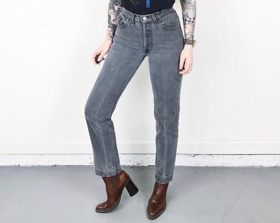 Levi's 501 Grey Jeans / Size 23 XS