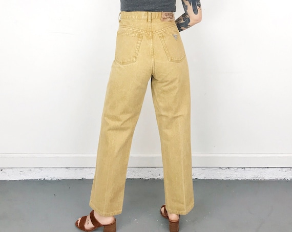 Guess Mustard Yellow Vintage Jeans / Size 32