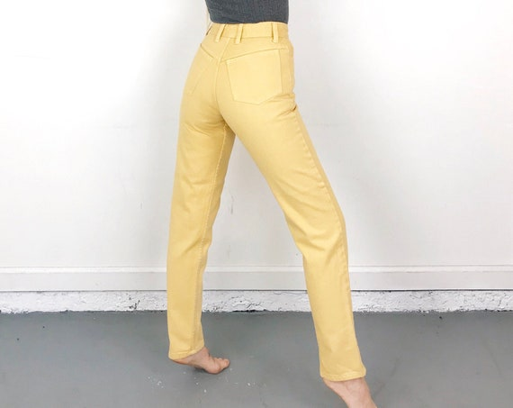 Guess Vintage Yellow Jeans / Size 24 25