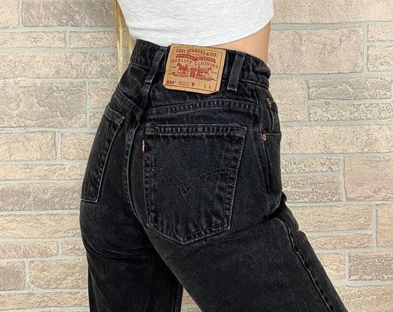 Levi's 550 Black Jeans / Size 23 24