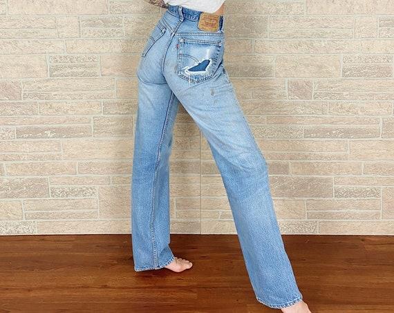 Levi's 501xx Distressed Worn Jeans / Size 30