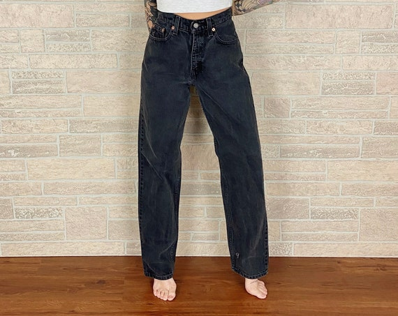 Levi's 560 Faded Black Jeans / Size 26