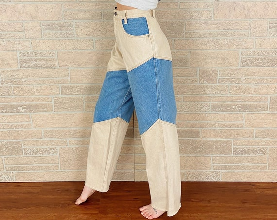 Vintage Bar None Quarterhorse Two Tone Western Jeans / Size 28 29