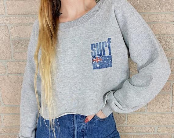 80's Ocean Pacific OP Surf Cropped Sweatshirt