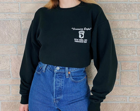90's Screaming Eagles 101st Airborne Division Parachute Demonstration Team Pullover Sweatshirt