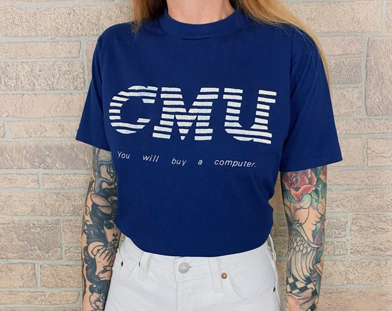 80's CMU Soft and Thin Computer Science T-Shirt