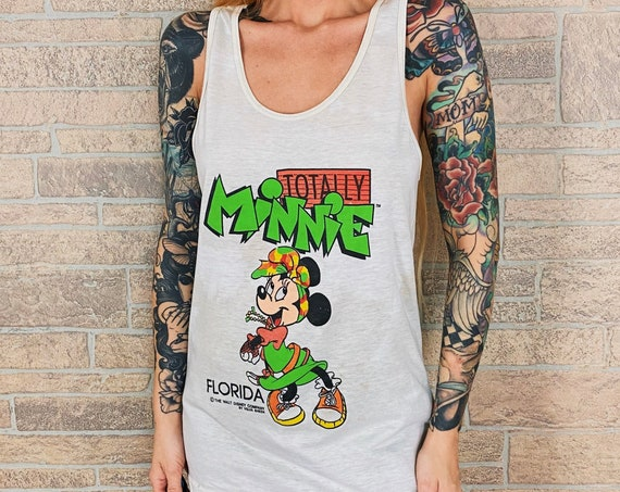 80's Minnie Mouse Florida Travel Tank Top