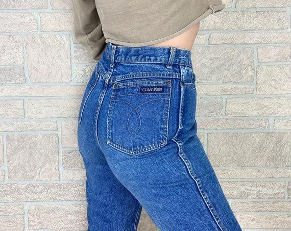 80's Calvin Klein Straight Leg Jeans / Size 27 28