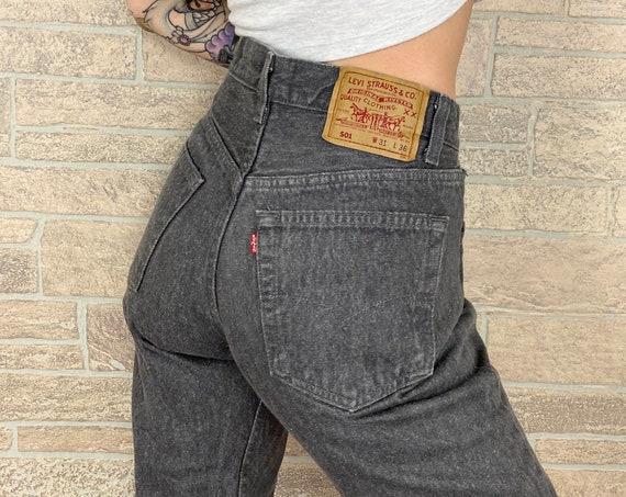 Levi's 501 Grey Jeans / Size 28