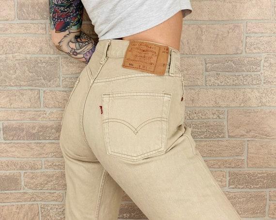 Levi's Beige 501 Jeans / Size 27 28