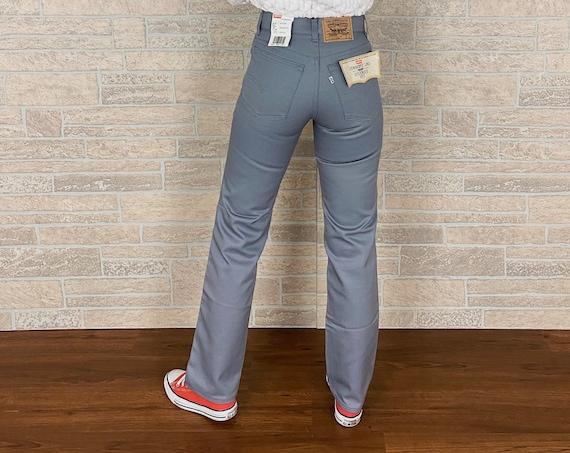 80's Deadstock Grey Levi's Trousers / Size 23 24