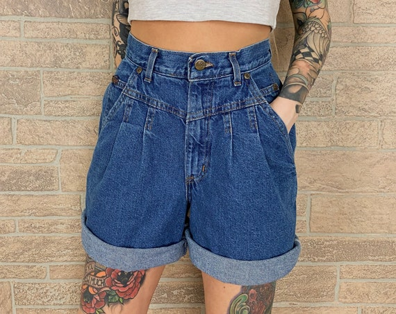 Vintage Chic High Rise Shorts / Size 25
