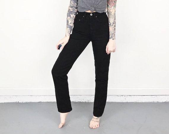 RARE Vintage For Joseph Black Jeans / Size 22 XXS