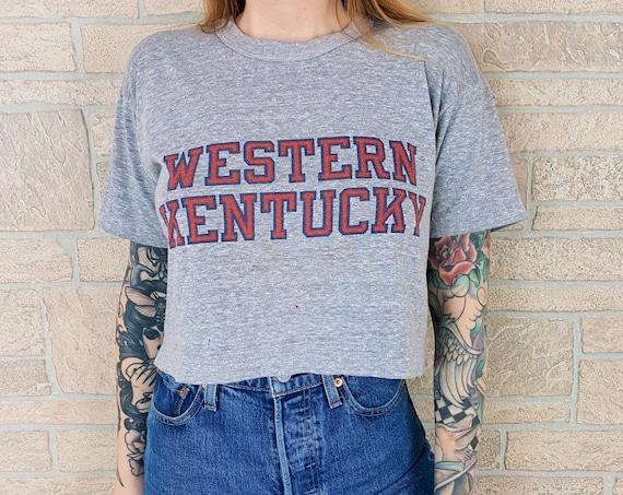 80's Champion Western Kentucky University Paper Thin Cropped Tee
