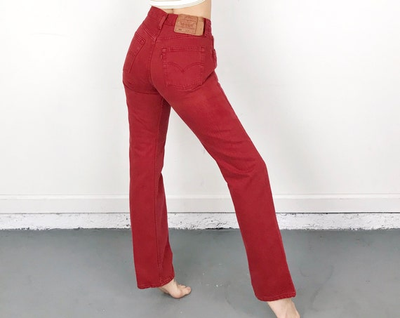 Levi's 501 Red Jeans / Size 25