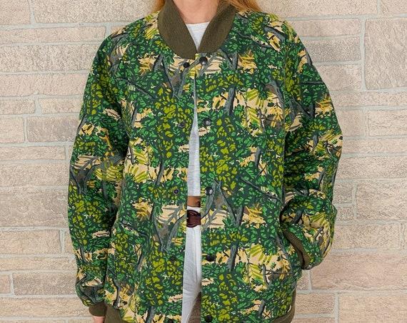 80's Tree Print Camo Liner Jacket