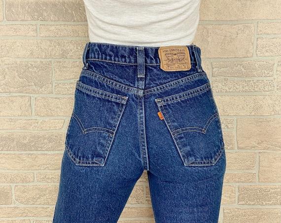 70's Levi's 718 Orange Tab Jeans / Size 24 25