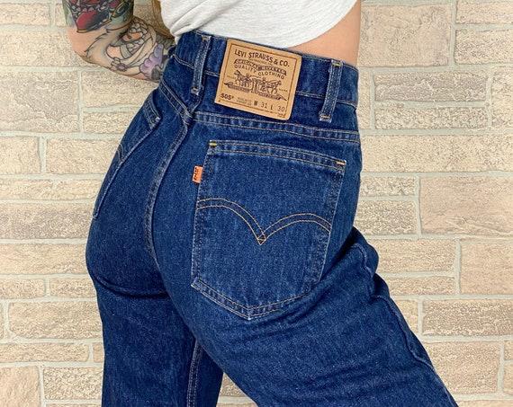 Levi's 505 Orange Tab Jeans / Size 28 29