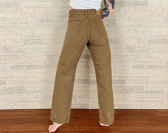 Levi's 501 Student Fit Brown Jeans / Size 28
