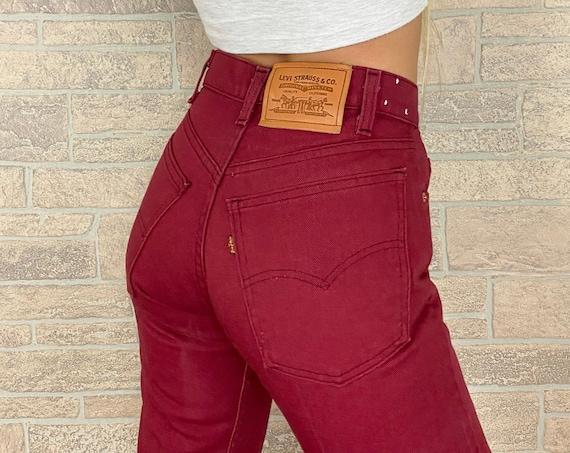 Levi's Vintage Burgundy Jeans / Size 23 24