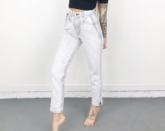 Vintage Lee Whitewash Jeans / Size 24